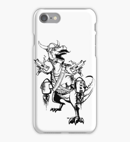 AWESOMEOSAURUS - the Baddest Asskickingest T-Rex Ever! iPhone Case/Skin