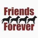 Pitbull Friends Forever Shirt by red addiction