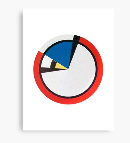 Mondrian Round Canvas Print