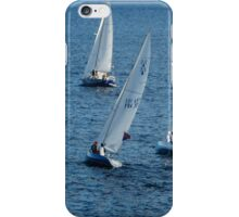 Into The Wind - Crisp White Sails On a Caribbean Blue iPhone Case/Skin
