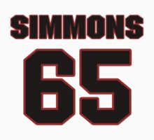 NFL Player Will Simmons sixtyfive 65 by imsport