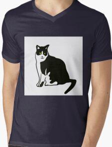 cat Mens V-Neck T-Shirt