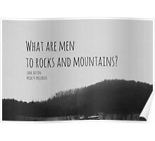 Jane Austen Mountain Poster