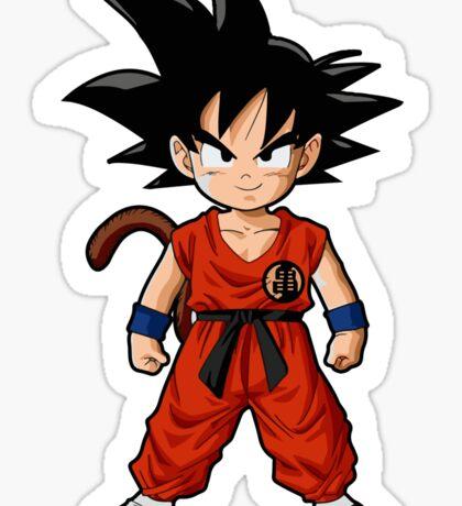 Young Kid Saiyan Goku in Yellow Sticker