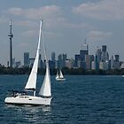 Summer Sailing Postcard from Toronto by Georgia Mizuleva