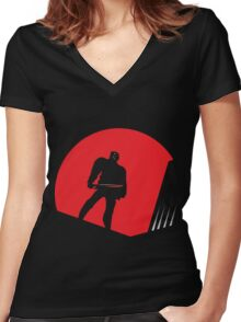 Jason Takes Gotham City Women's Fitted V-Neck T-Shirt