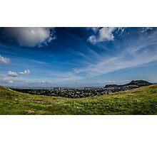 Blue Skies of Edinburgh Photographic Print