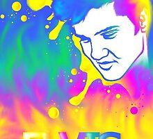 Technicolor Elvis Portrait by xGareBearx