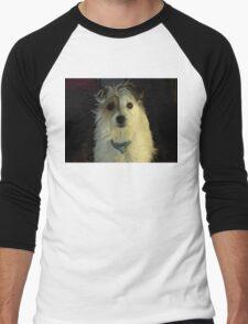 Portrait Of A Terrier Men's Baseball ¾ T-Shirt