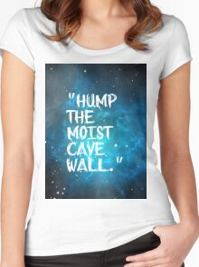 Hump The Moist Cave Wall Women's Fitted Scoop T-Shirt