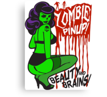 Zombie Pinup #1 Canvas Print