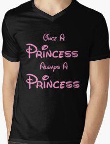 ONCE A PRINCESS ALWAYS A PRINCESS 2 Mens V-Neck T-Shirt