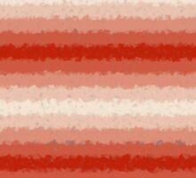 H Red Distorted Stripes Sticker