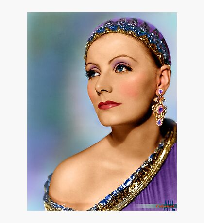 Colorized Greta Garbo in her moive Mata Hari Photographic Print