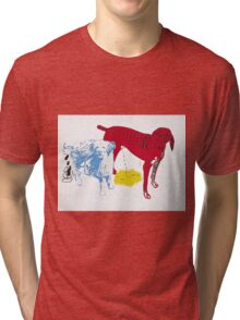 Untitled Two Dogs  Tri-blend T-Shirt