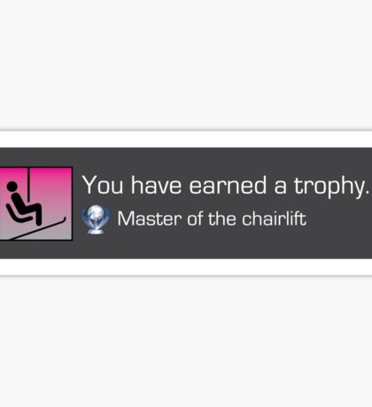 Playstation Trophy - Master of the chairlift Sticker