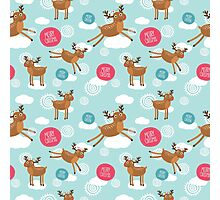 Christmas Deer Photographic Print