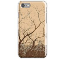 belfry through branches iPhone Case/Skin