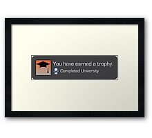 Playstation Trophy - Completed University Framed Print