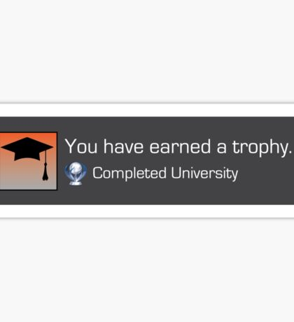 Playstation Trophy - Completed University Sticker