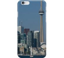 Up Close and Personal - CN Tower, Toronto Harbor and the City Skyline From a Boat iPhone Case/Skin