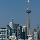 Up Close and Personal - CN Tower, Toronto Harbor and the City Skyline From a Boat by Georgia Mizuleva