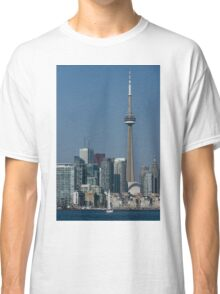 Up Close and Personal - CN Tower, Toronto Harbor and the City Skyline From a Boat Classic T-Shirt