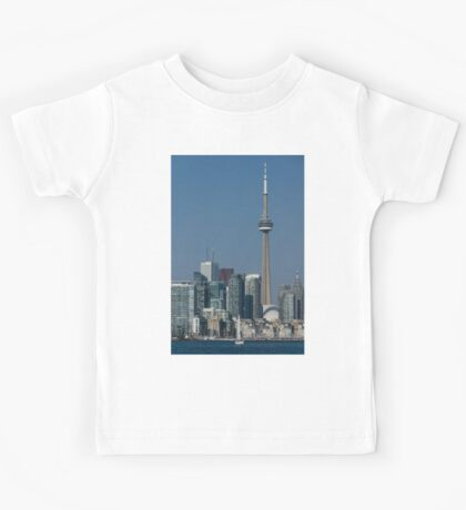 Up Close and Personal - CN Tower, Toronto Harbor and the City Skyline From a Boat Kids Tee