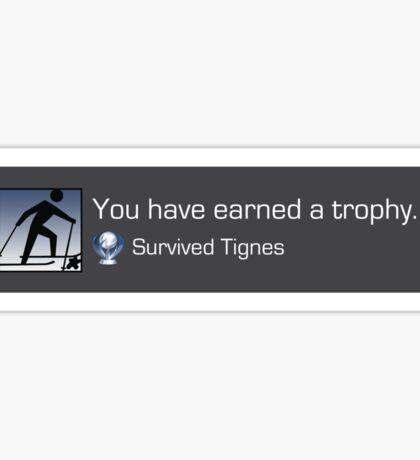 Playstation Trophy - Survived Tignes Sticker