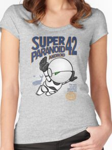 Super Paranoid Android 42 Women's Fitted Scoop T-Shirt