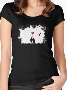 Love, Love, Love.... Women's Fitted Scoop T-Shirt