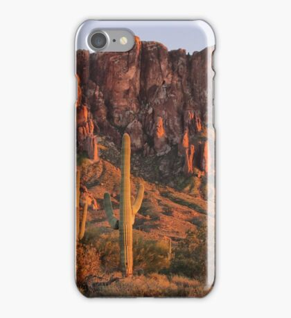 Sunset Glow on the Superstitions iPhone Case/Skin