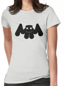 MARSHMELLO IN BLACK Womens Fitted T-Shirt