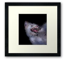Dogs with game face on .17 Framed Print