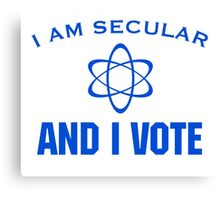 Secular Vote Canvas Print