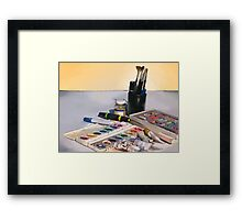 Art Tools of the Trade Framed Print
