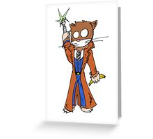 Doctor cat Greeting Card