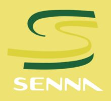 Ayrton Senna in Brazilian colors Kids Clothes