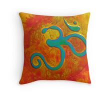 Om orange Throw Pillow