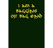 Baggins Photographic Print