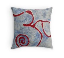 Om red blue Throw Pillow