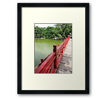 Follow the red  Framed Print