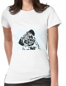 pug 18d Womens Fitted T-Shirt