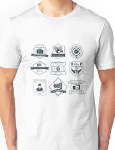 Vector Set of Photography Badges Unisex T-Shirt