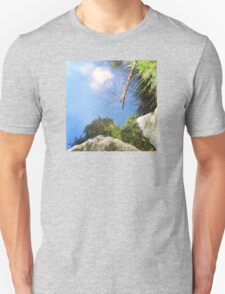 Reflection in a mountain stream Unisex T-Shirt