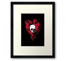 Heart and Skull Framed Print