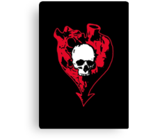 Heart and Skull Canvas Print