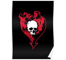 Heart and Skull Poster