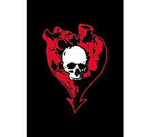 Heart and Skull Photographic Print