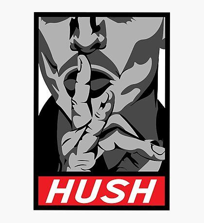 shepard fairey obey hush-music Photographic Print